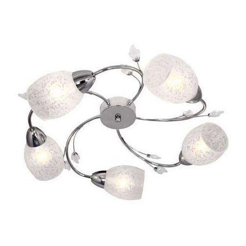 Plafon lampa sufitowa Reality Plato 5x40W E14 chrom / biały 624105-06 >>> RABATUJEMY do 20% KAŻDE zamówienie!!!, 624105-06