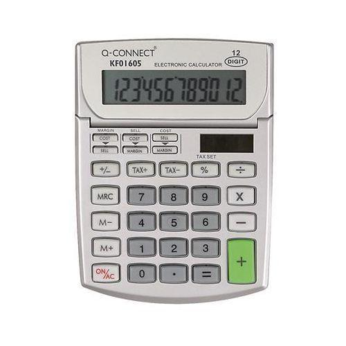 Kalkulator biurkowy Q-CONNECT 12-cyfrowy, 102x140mm, szary