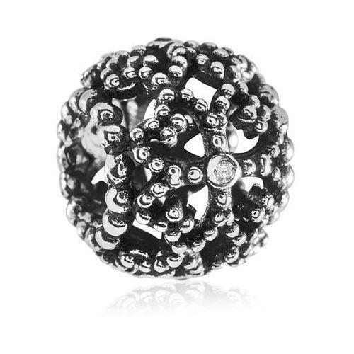 Charms koralik srebrny koralowa koniczynka marki Murrano