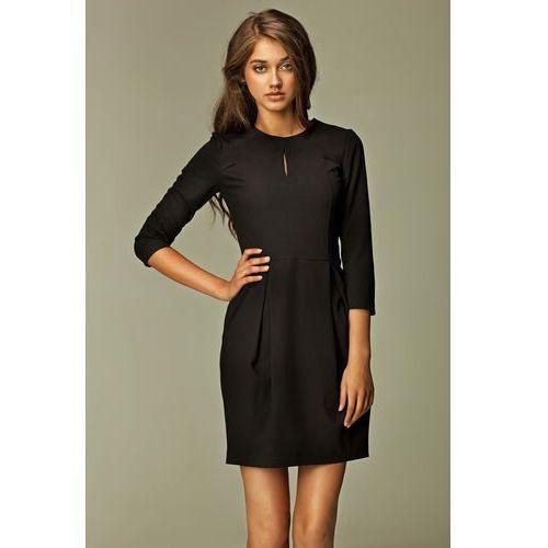 Praktyczna Sukienka Bombka Czarna, NS32bl