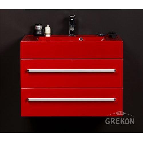 Czerwona szafka wisząca z umywalką 70/50/2CZ seria Fokus CZ