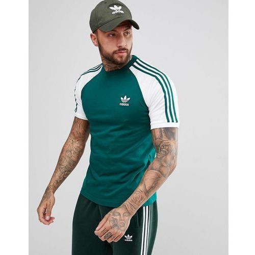 Adidas originals adicolor raglan california t-shirt in green cw1206 - green