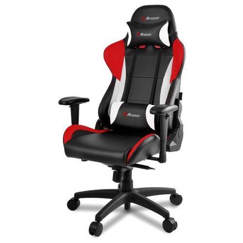 Fotel AROZZI Verona PRO V2 Czarno-czerwono-biały + DARMOWY TRANSPORT! (0713228271151)