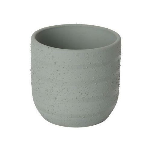 Goodhome Doniczka ceramiczna c71 ozdobna 9 cm szara