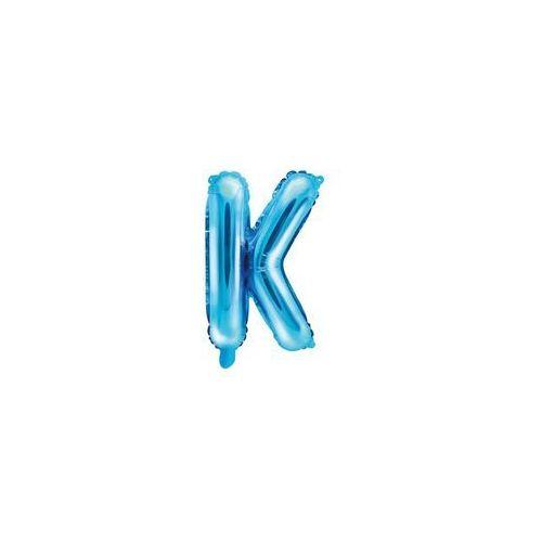 """Balon foliowy litera """"K"""" niebieska - 35 cm (5902230779358)"""