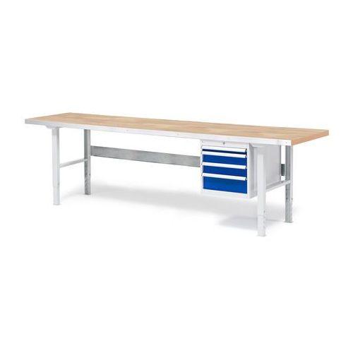 Aj produkty Stół warsztatowy z blatem o powierzchni dębowej 800x500x2500mm