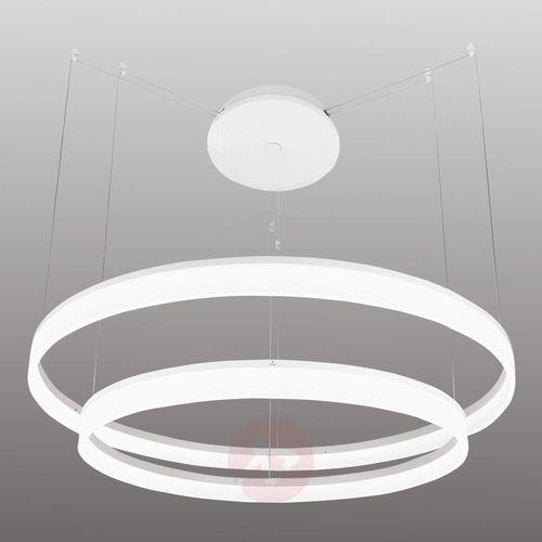 Leds-c4 circ lampa wisząca biały, 2-punktowe - nowoczesny - obszar wewnętrzny - circ - czas dostawy: od 2-3 tygodni