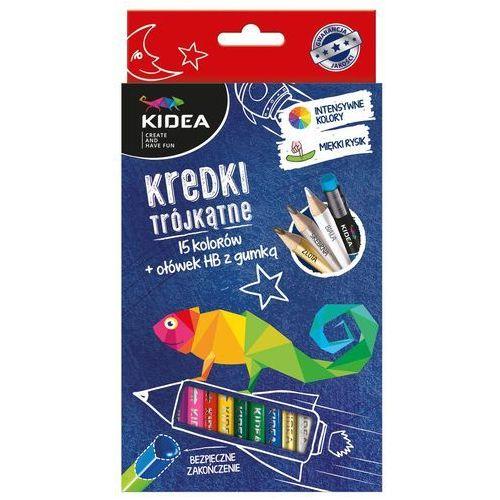 Derform kredki trójk. 15 kolorów +ołówek kidea