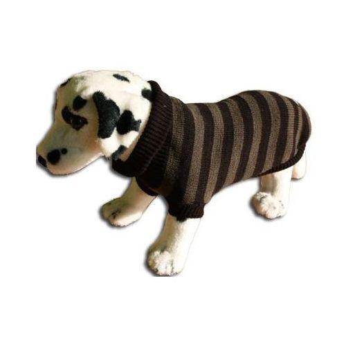Ami play  sweter dla psa paski khaki-czarne rozmiary 1-6