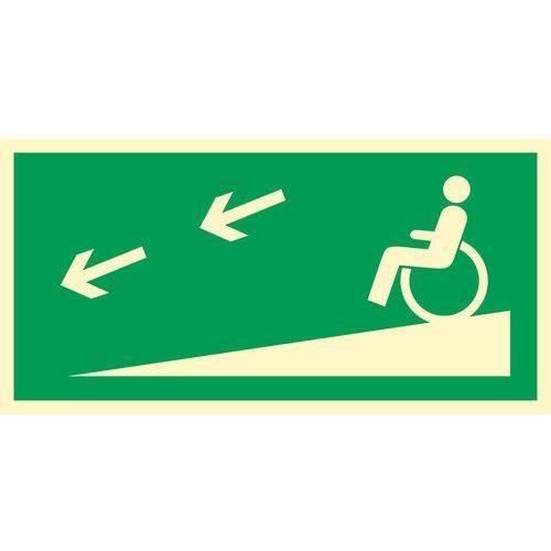 Zjazd ewakuacyjny na niższą kondygnację dla niepełnosprawnych w lewo marki Top design. Najniższe ceny, najlepsze promocje w sklepach, opinie.