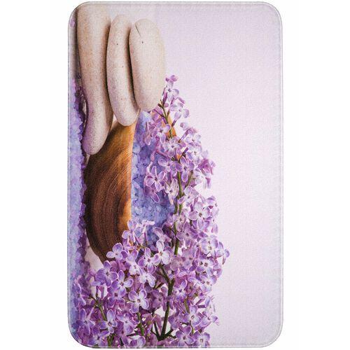Dywaniki łazienkowe z pianką memory lila marki Bonprix