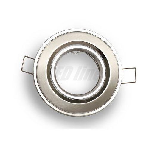 Oprawa halogenowa sufitowa okrągła, ruchoma, odlew stopu aluminium - satyna marki Led line