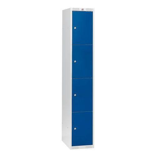 Szafa schowkowa classic 1 moduł 4 schowki 1740x300x550 mm niebieski marki Aj