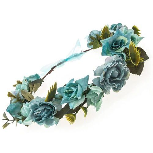 Wianek kwiaty i liście niebieski - niebieski marki Iloko