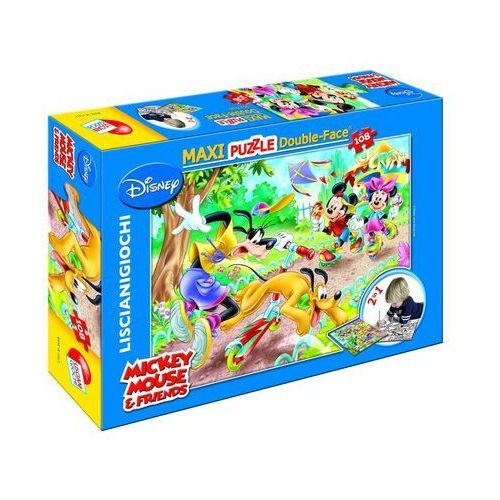 Lisciani Puzzle 108 dwustronne maxi mickey mouse (8008324037247)