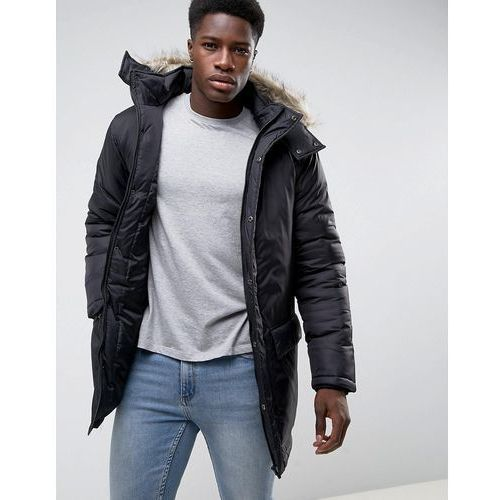 parka with faux fur hood - black marki French connection