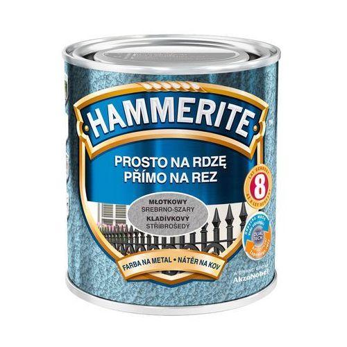 Farba prosto na rdzę - efekt młotkowy srebrno-szary 0,7l marki Hammerite