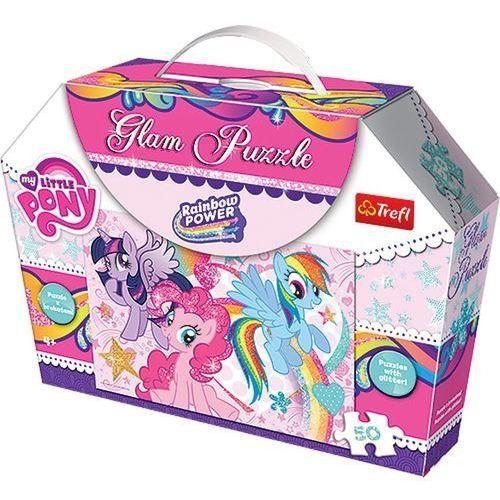Trefl Glam puzzle - kucyki pony  (5900511148046)