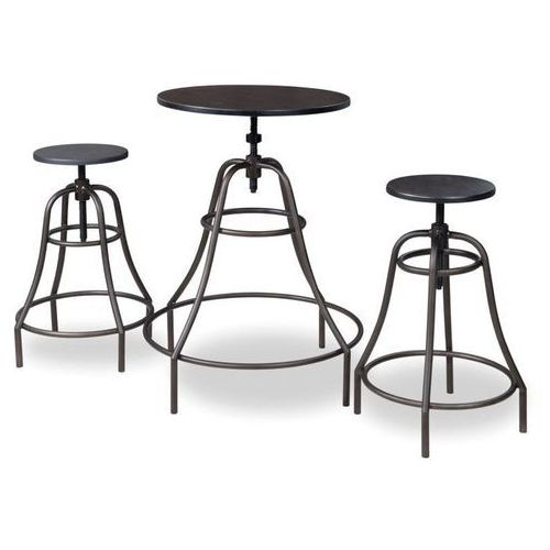 Zestaw barowy stolik + 2 hokery SIGNAL TANGO LOFT