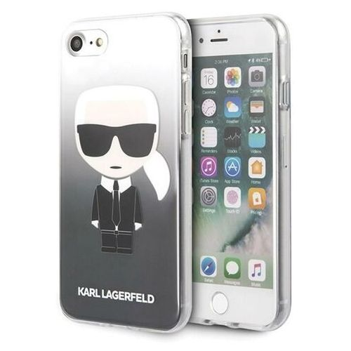 klhci8trdfkbk iphone 7/8 /se 2020 czarny/black gradient ikonik karl marki Karl lagerfeld