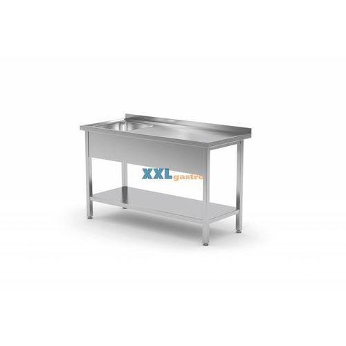Stół ze zlewem i półką szer:800-1900mm gł.700mm marki Polgast