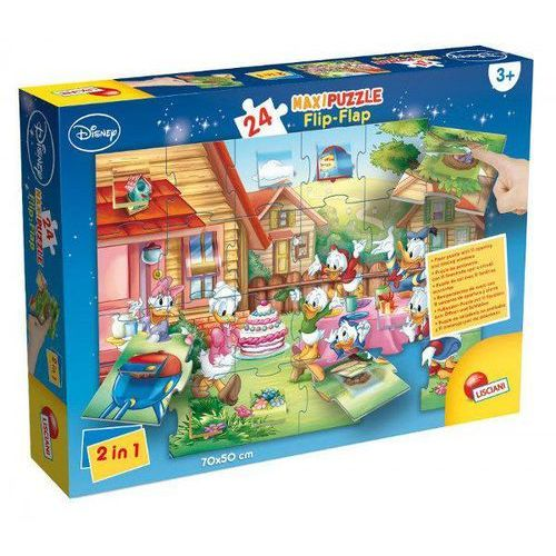 Lisciani Puzzle maxi flip-flap kaczor donald 24 (8008324048403)