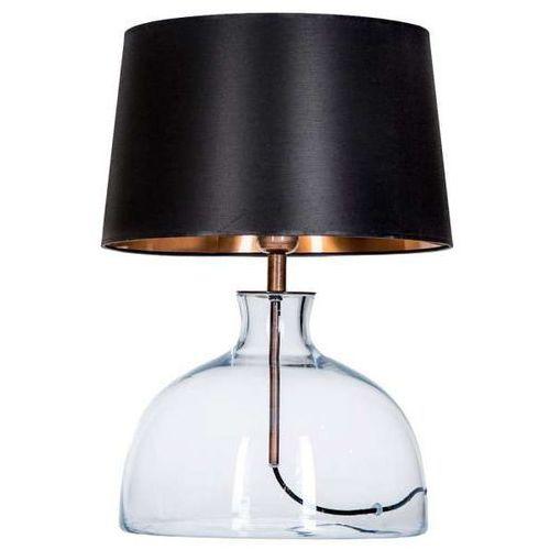 4concepts Lampa oprawa stołowa haga 1x60w e27 czarny/miedź l212180260 (5901688145159)