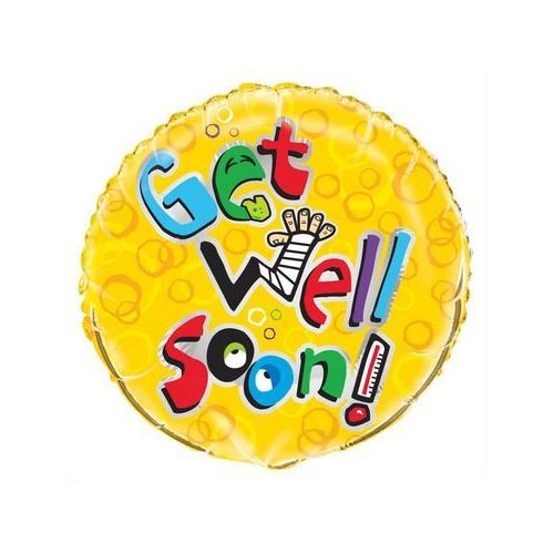 Balon foliowy Get well soon! - 46 cm