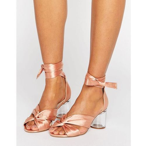 hollow heeled sandals - beige marki Asos