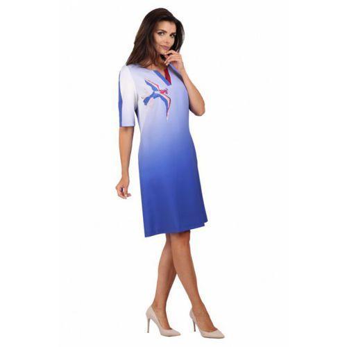 Sukienka wizytowa model 872 blue, Margo collection