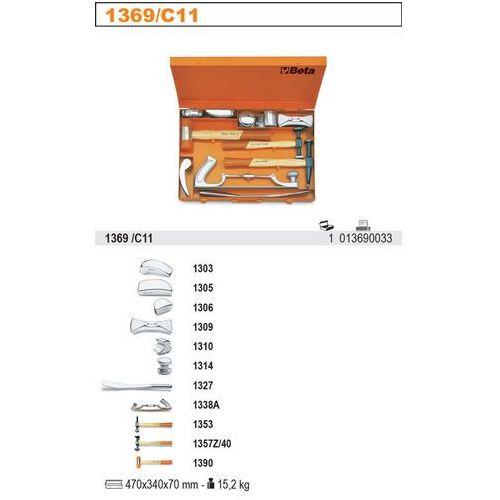 ZESTAW NARZĘDZI BLACHARSKICH, 11 ELEMENTÓW, W PUDEŁKU METALOWYM, MODEL 1369/C11X z kategorii Zestawy narzędzi ręcznych