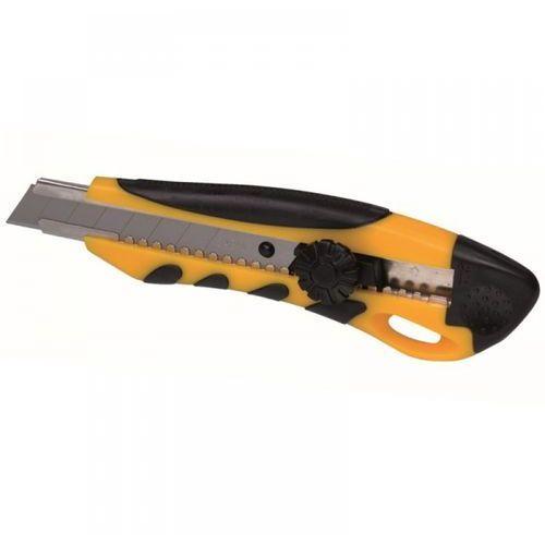 Nóż żółty XL 18mm odłamywane ostrze uchwyt z gumą (5902628990136)