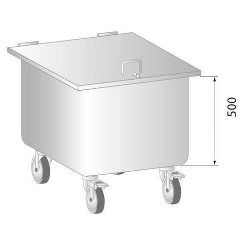 Pojemnik na odpadki, jezdny 400x400x650 mm | DORA METAL, DM-3410