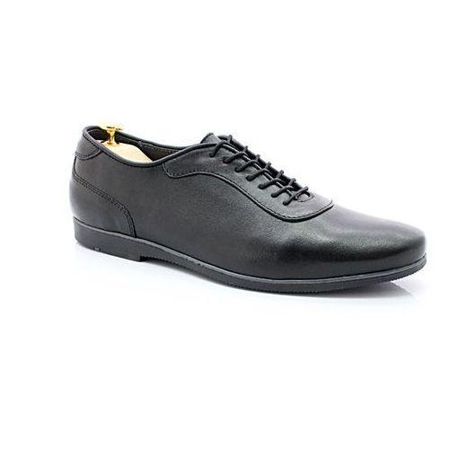 292 czarny - buty męskie casual ze skóry naturalnej marki Kent