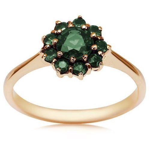 Kolekcja Wiktoriańska - pierścionek ze szmaragdami