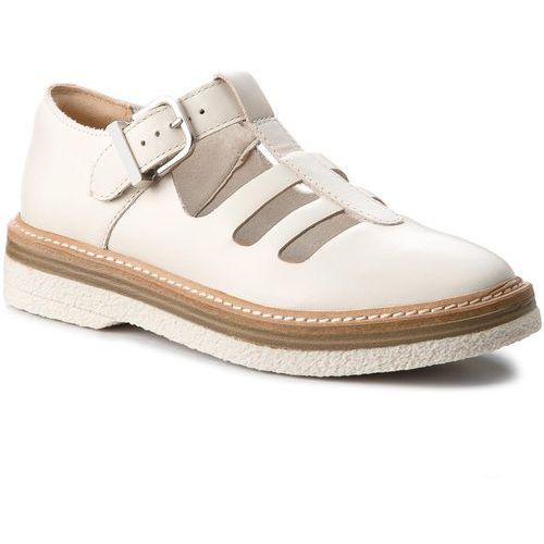 Półbuty - zante freya 261311664 white leather, Clarks