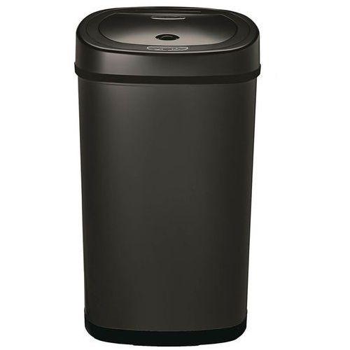 Pojemnik na odpady medyczne 50 litrów Ninestars stal szlachetna czarny, ODZT-50-9BK