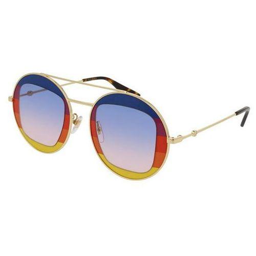 Okulary Słoneczne Gucci GG0105S 004, kolor żółty