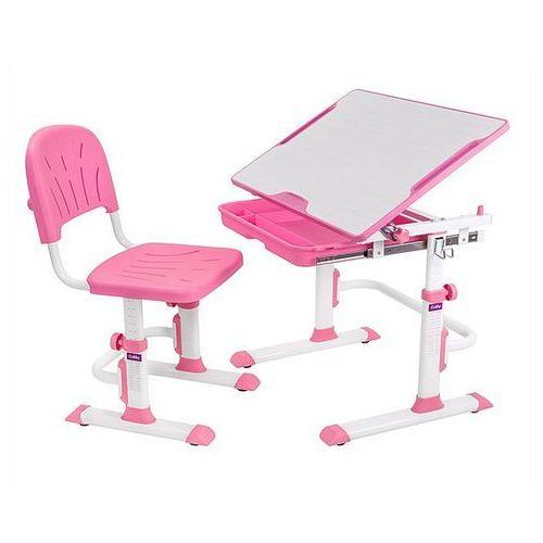 Lupin Cubby Pink - Ergonomiczne, regulowane biurko dziecięce z krzesełkiem FunDesk - ZŁAP RABAT: KOD30
