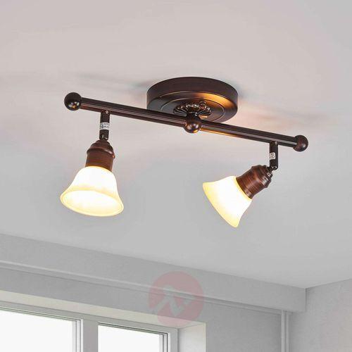 Eglo 89058 - lampa sufitowa alamo 2xg9/40w ciemny brąz / beż
