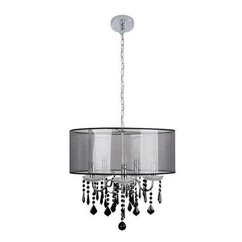 Candellux Sottile 35-73938 lampa wisząca zwis 5x40W E14 czarny/srebrny (5906714873938)