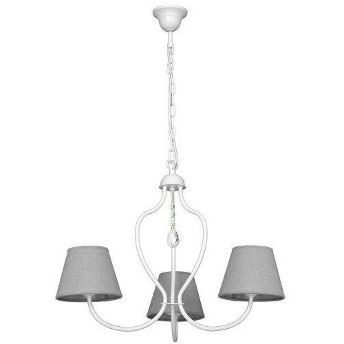 Lampa wisząca świecznikowa zwis oprawa etna 3x40w e14 biała 859e >>> rabatujemy do 20% każde zamówienie!!! marki Aldex