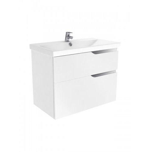 New trendy koda szafka wisząca + umywalka biały połysk 80 cm ml-el280