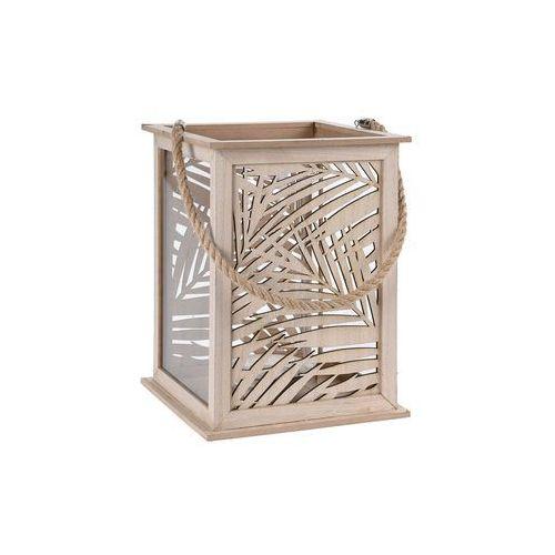 Lampion LEAF DESIGN - latarenka na świeczkę, 22x32 cm