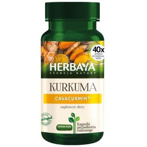 Herbaya, Kurkuma Cavacurmin, 60 kapsułek - Długi termin ważności! DARMOWA DOSTAWA od 39,99zł do 2kg! (5900956801100)