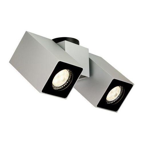 Kaspa - Oprawa stropowa natynkowa II - Squar - srebrna
