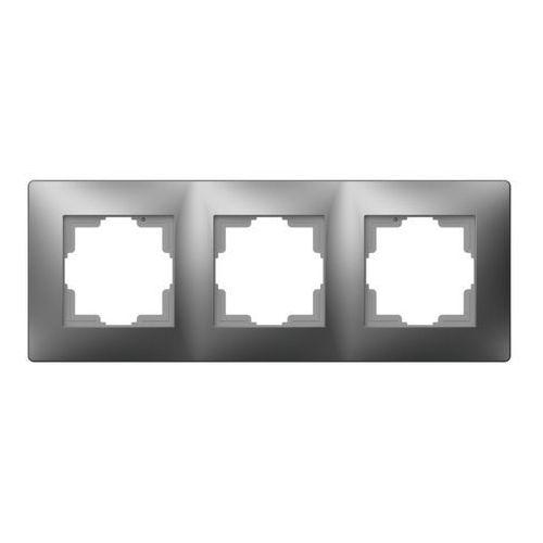 ELEKTROPLAST VOLANTE Ramka uniwersalna 3x Srebrny 2673-06, 2673-06