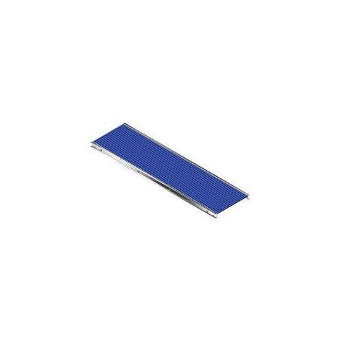 Mały przenośnik rolkowy, rama aluminiowa i rolki z tworzywa,szer. przenośnika 500 mm marki Gura fördertechnik
