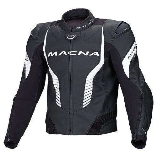 Macna  flash kurtka motocyklowa skórzana czarno - biała