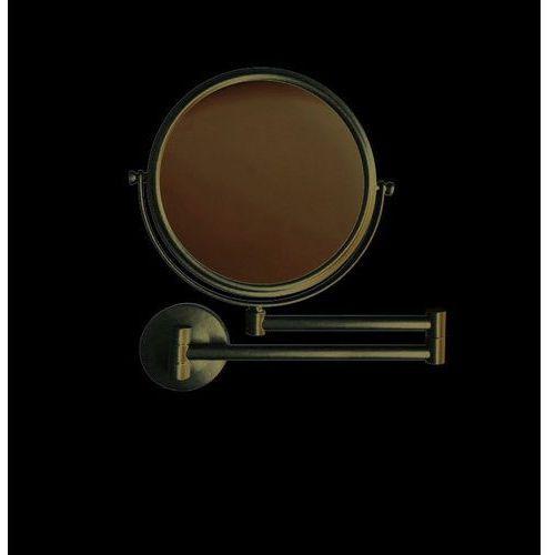 Stella lusterko proste, powiększające x 3,podwójne ruchome ramię czarne 22.01130-b marki Akcesoria łazienkowe stella
